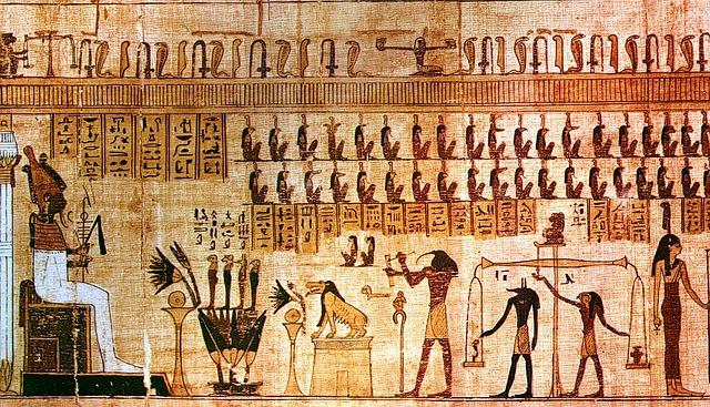 papyrus z hrobky